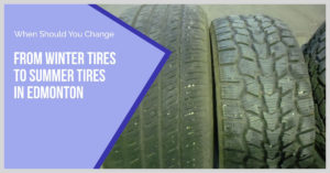 Summer Tire Tread next to a Winter Tire Tread